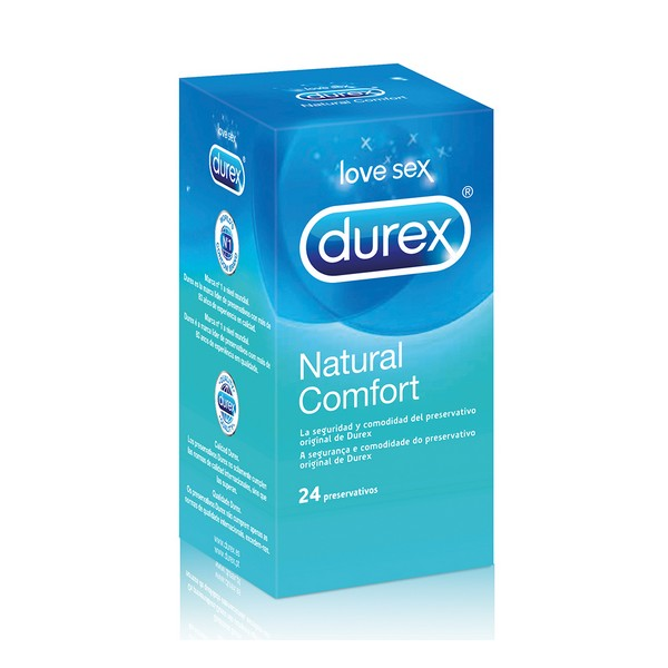 Kondomy Durex Natural Plus (24 kusů)
