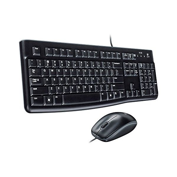 Keyboard and Optical Mouse Logitech 920-002550 1000 dpi USB Černý