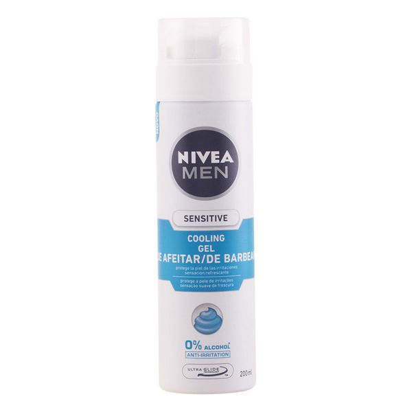 Shaving Gel Men Sensitive Cool Nivea - 200 ml